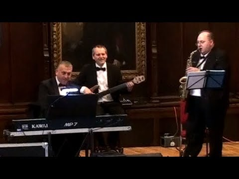 Jazz Trio during a meal at Durham Castle