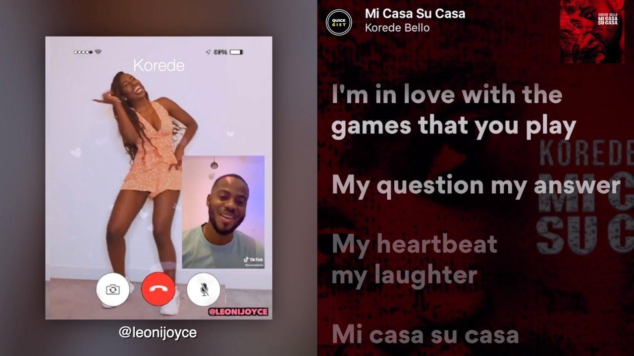 Download Korede Bello - Mi Casa Su Casa (Lyrics + Challenge)