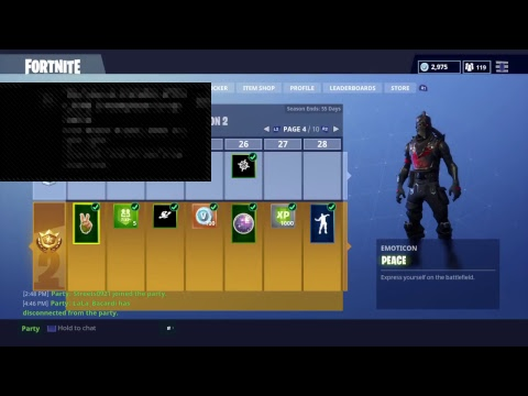 FORTNITE LVL 52 - RANK UP LOBBY (WAVE TO 2.3K SUBS)