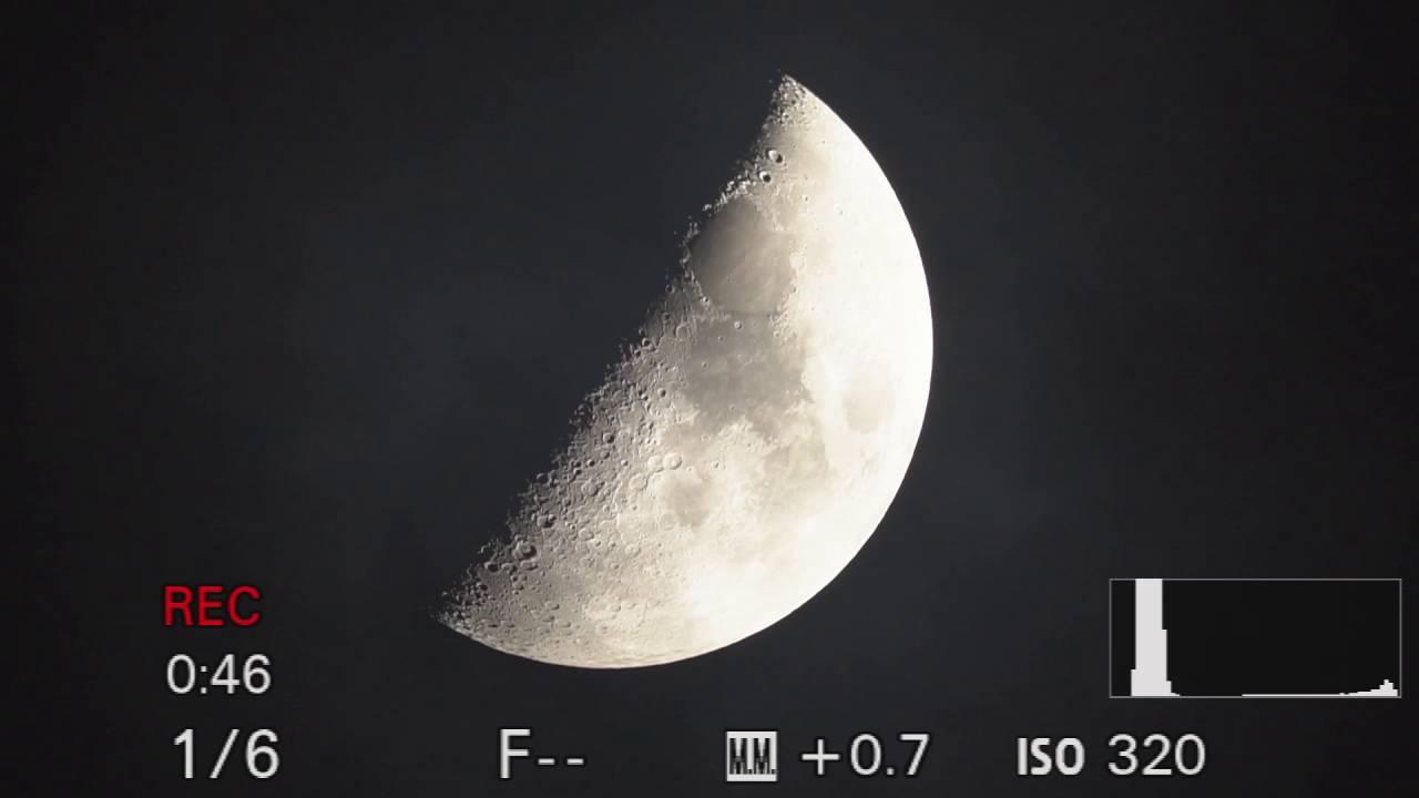 MOON TV LIVE - 1st Quarter 47 - Jupiter conjunction - 4K-UHD 1080p