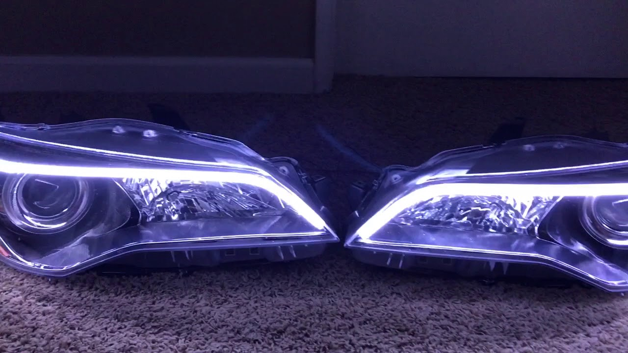 2017 Toyota Camry Headlights Retroed With Drl Switchback Led Strips