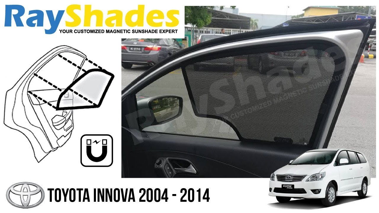 TOYOTA INNOVA Installed RayShades USA Magnetic Door Window Sun Shades