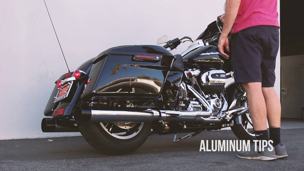 2017 harley davidson touring exhaust system - tbr - youtube
