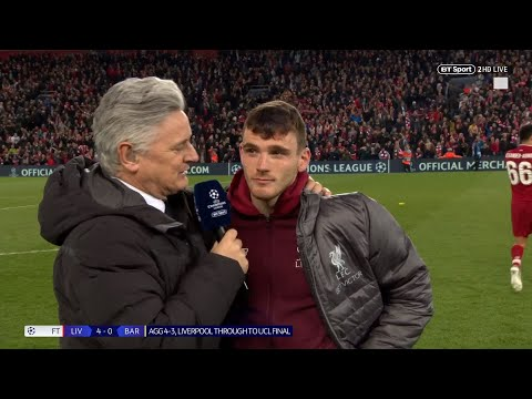 Andy Robertson delivers savage one-line response to Luis Suarez after Liverpool 4-0 Barcelona