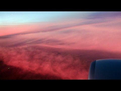 Dallas-Seattle flight AA1220: Takeoff, Black Mesa, Rockies sunset, landing  2015-10-05
