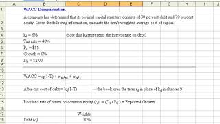 Weighted-Average Cost of Capital (WACC) Demonstration