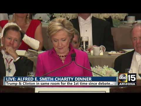 Hillary Clinton tears into Rudy Giuliani - Alfred E. Smith dinner