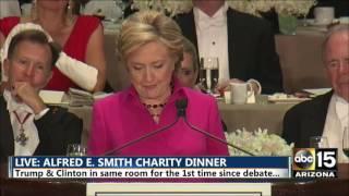Hillary Clinton tears into Rudy Giuliani - Alfred E. Smith dinner