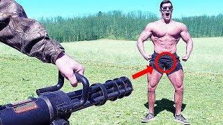 Airsoft Minigun ANNIHILATES My B*LLS | Bodybuilder VS World's Most Painful Airsoft Gun