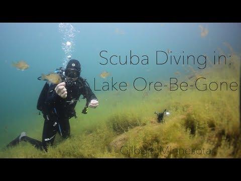 Gilbert, Minnesota • Diving in Lake OreBeGone