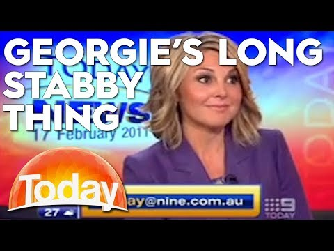 Georgie's 'long stabby thing' has everyone losing it