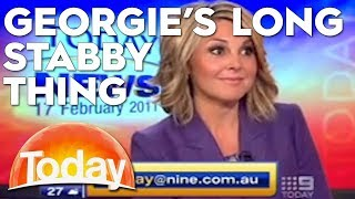 Georgie's 'long stabby thing' has everyone losing it