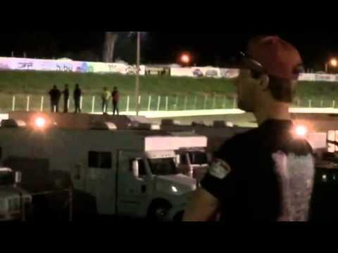 Josh Weller crash at Black Hills speedway 2014