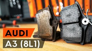 How to replace rear brake pads / rear brake pad set on AUDI A3 1 (8L1) [TUTORIAL AUTODOC]