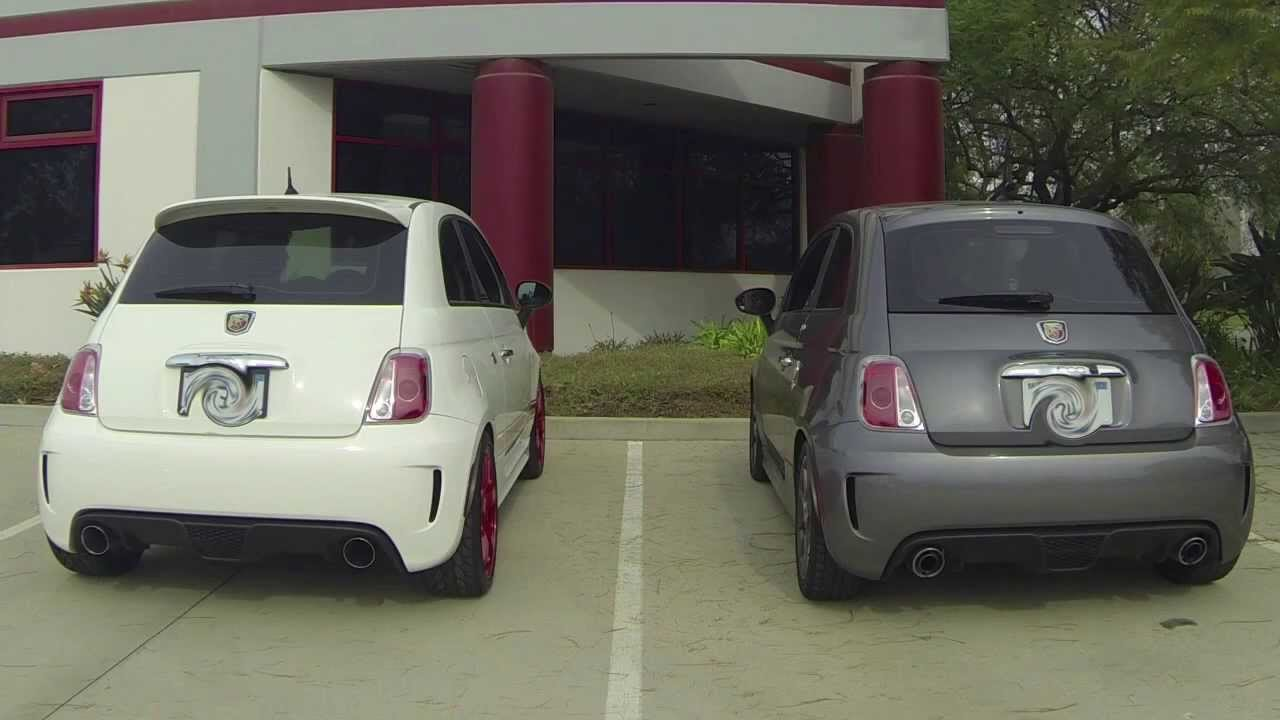neu f muffler exhaust vs stock fiat 500 abarth youtube. Black Bedroom Furniture Sets. Home Design Ideas