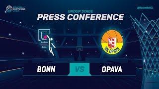 Telekom Baskets Bonn v Opava - Press Conference - Basketball Champions League 2018-19