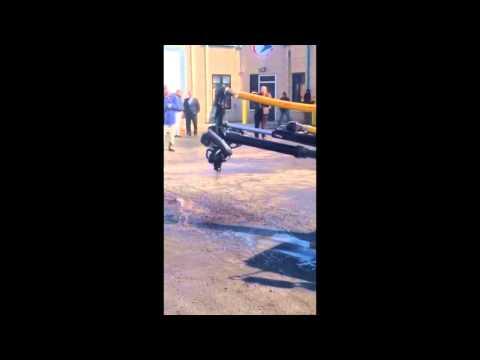 The NJ Department of Transportation's 'Pothole Killer' truck in action