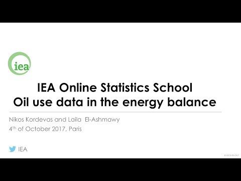 IEA Webinar : Oil statistics