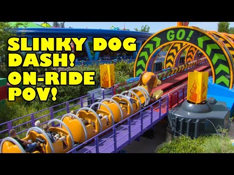 Slinky Dog Dash Roller Coaster Onride POV Walt Disney World Hollywood Studios Toy Story Land
