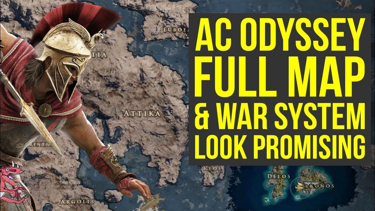 Assassin S Creed Odyssey Map Size Conquest War System All The