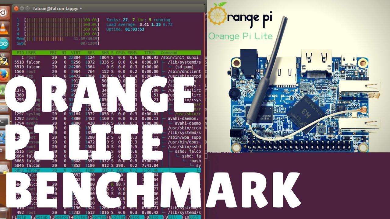 Orange Pi Lite CPU Benchmark using sysbench