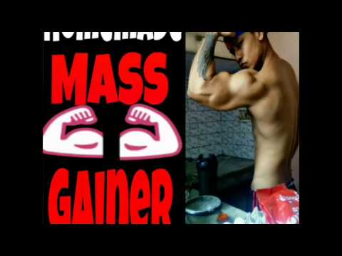 """GAIN MUSCLES SIZE WITH HOMEMADE MASS GAINER….fitness guide…""""/hindi"""