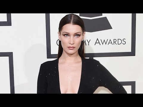 b68f0c7934 Bella Hadid Exposes Her Nipples In a Totally Sheer Shirt - YouTube
