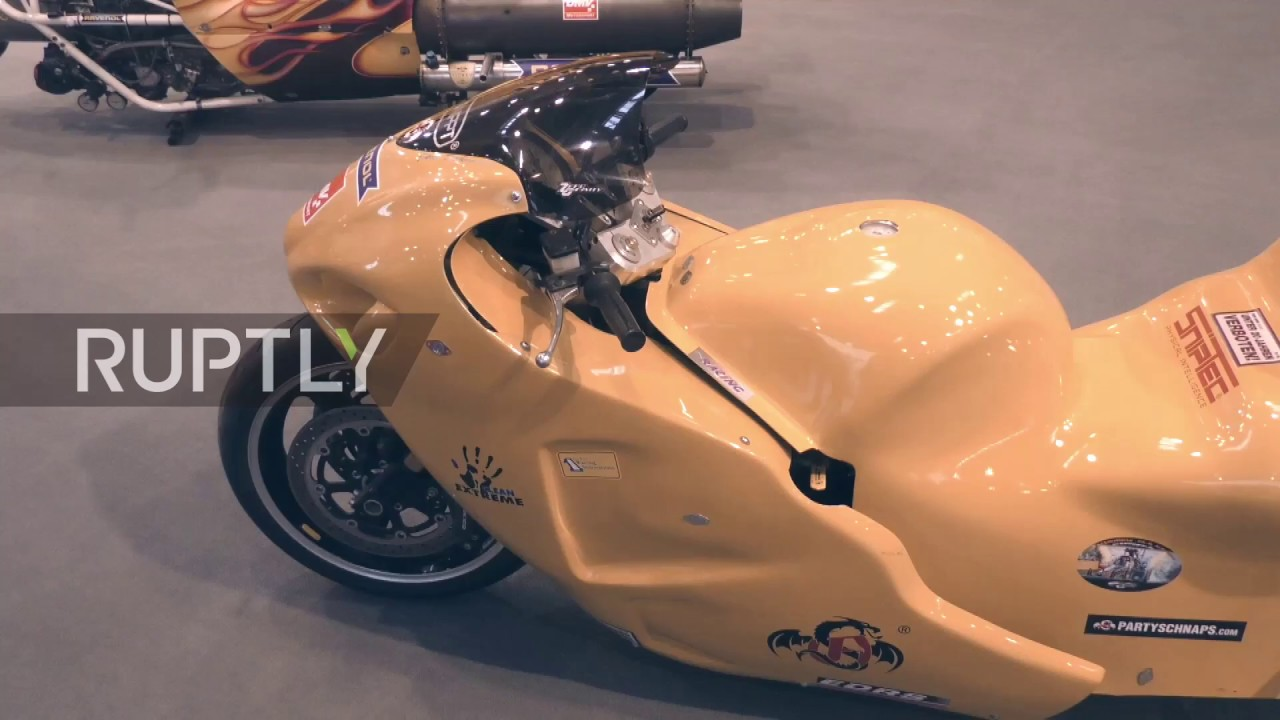 Germany: 7,000 horsepower rocket bike presented at Essen Motor Show