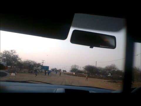 Driving in Botswana - From Gaborone to Mochudi