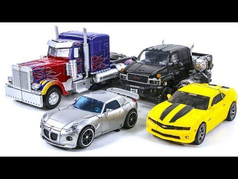 Transformers Movie Oversized Optimus Prime Bumblebee Leader Ironhide HA Jazz Vehicle Car Robot Toys