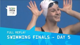 Swimming - Finals Day 5 | Full Replay | Nanjing 2014 Youth Olympic Games
