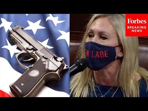 JUST IN: Marjorie Taylor Greene TEARS INTO Democrats' gun control bills on House floor