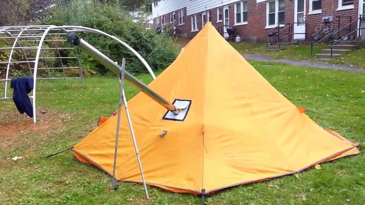 My hot tent first burn in & My hot tent first burn in - YouTube