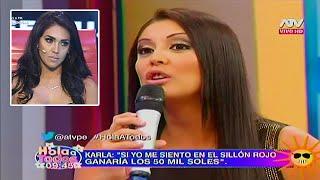 HOLA A TODOS 12/04/16 KARLA TARAZONA NO SE GUARDA NADA Y LE RESPONDE FUERTE A VANIA BLUDAU