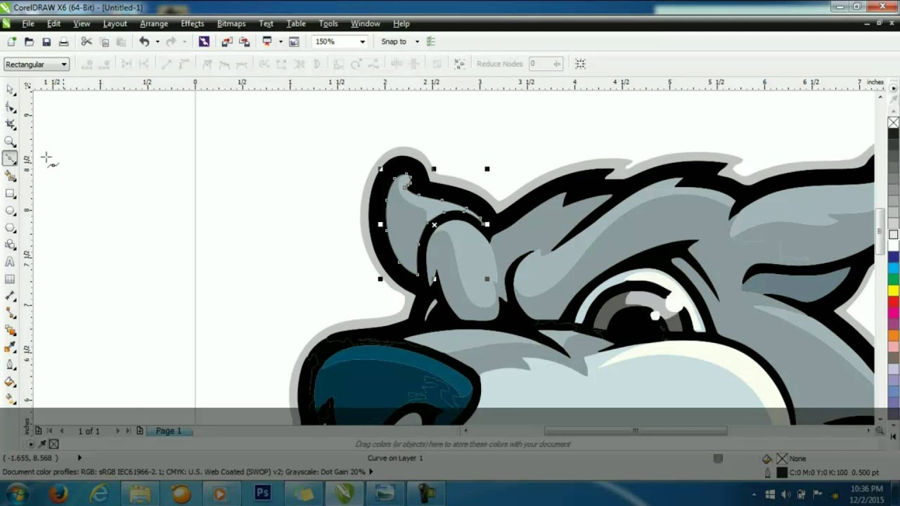 Corel draw clipart images - How To Make Cartoon Dog Head At Coreldraw Tutorial Vector Part 1 Youtube