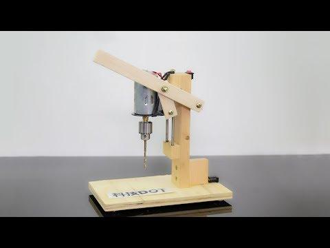 How to Make a Drill Press Machine | Homemade Mini Drill 手工DIY实用微型台钻 自制电钻教学