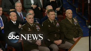 President Trump discusses the strength of US military   SOTU 2020 l  ABC News