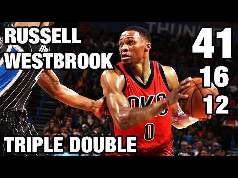 Russell Westbrook drops a 41 Point 16 Assist Triple Double