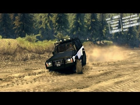 Spin Tires Dev Demo July - Nissan Patrol Y60 Long Test Drive