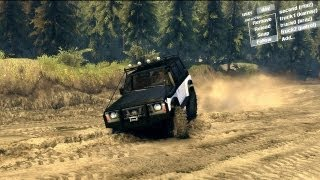 Spin Tires Dev Demo July 2013 - Nissan Patrol Y60 Long Test Drive