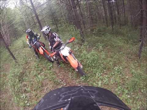 Group dirt bike trail ride in Prince George, B.C.
