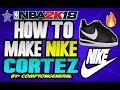 HOW TO MAKE NIKE CORTEZ 🔥 ON NBA 2K18 | 🔥EASY🔥 | TUTORIAL