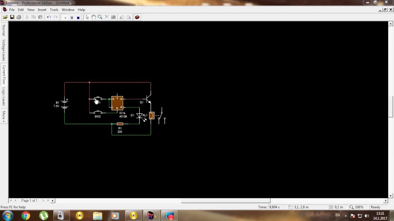 How To Make The Switch With Integrated Circuit 4013b Kako Circuits Napraviti Prekidac Sa Ic