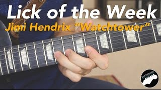 Baixar - Jimi Hendrix All Along The Watchtower Guitar Lick Lesson Grátis