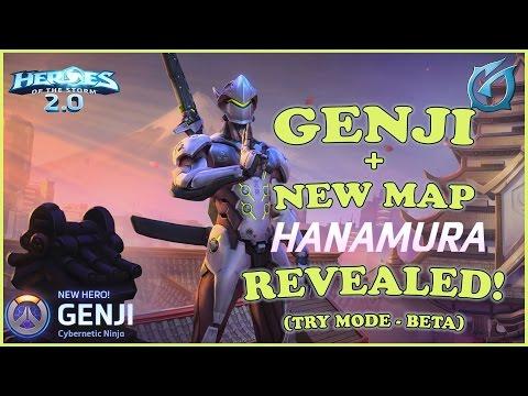 Grubby | Heroes of the Storm 2.0 - Overwatch Genji & New Map Hanamura Revealed!