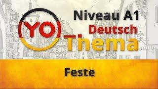 """Thema 14 """"Feste"""". Deutsch für Anfänger. Deutsch mit Oxana Wasiljewa"""