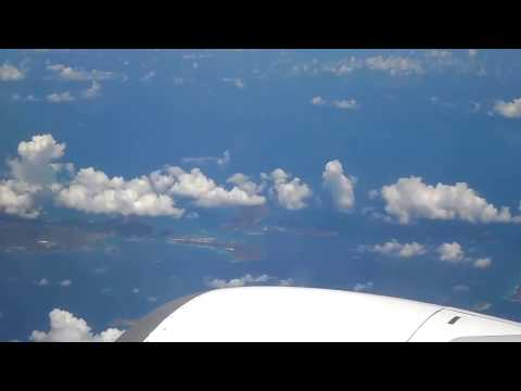 CARIBBEAN ISLANDS(WEST INDIES) FROM ABOVE IN A BOEING 737-800