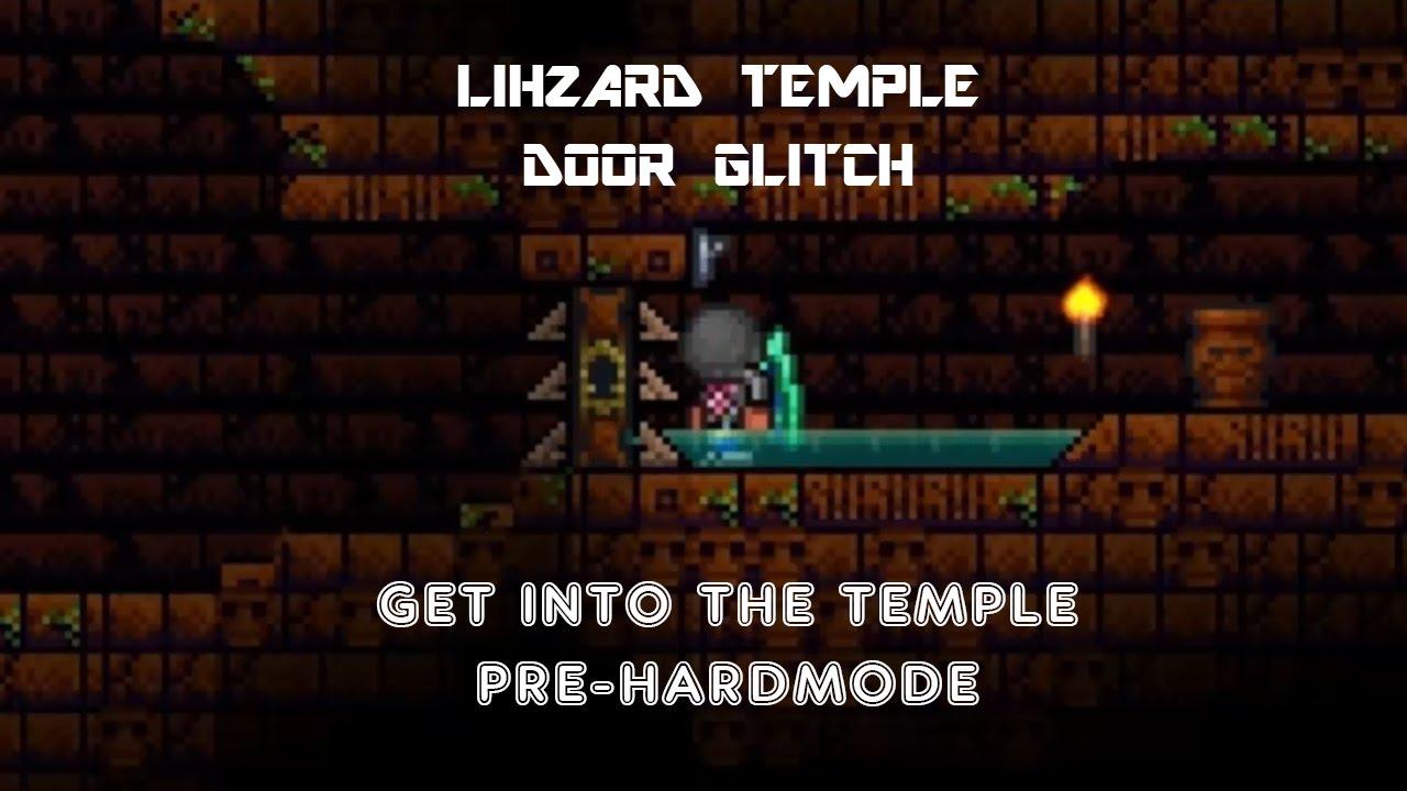 Terraria 1 2 4 Lizhard Temple Door Hoik Glitch How To