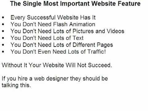 Minnesota Web Design, Most Important Website Feature
