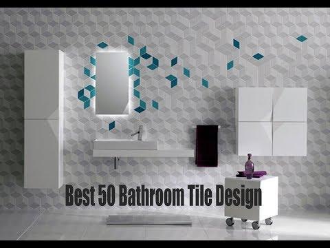 Best 50 Bathroom Tile Design 2017